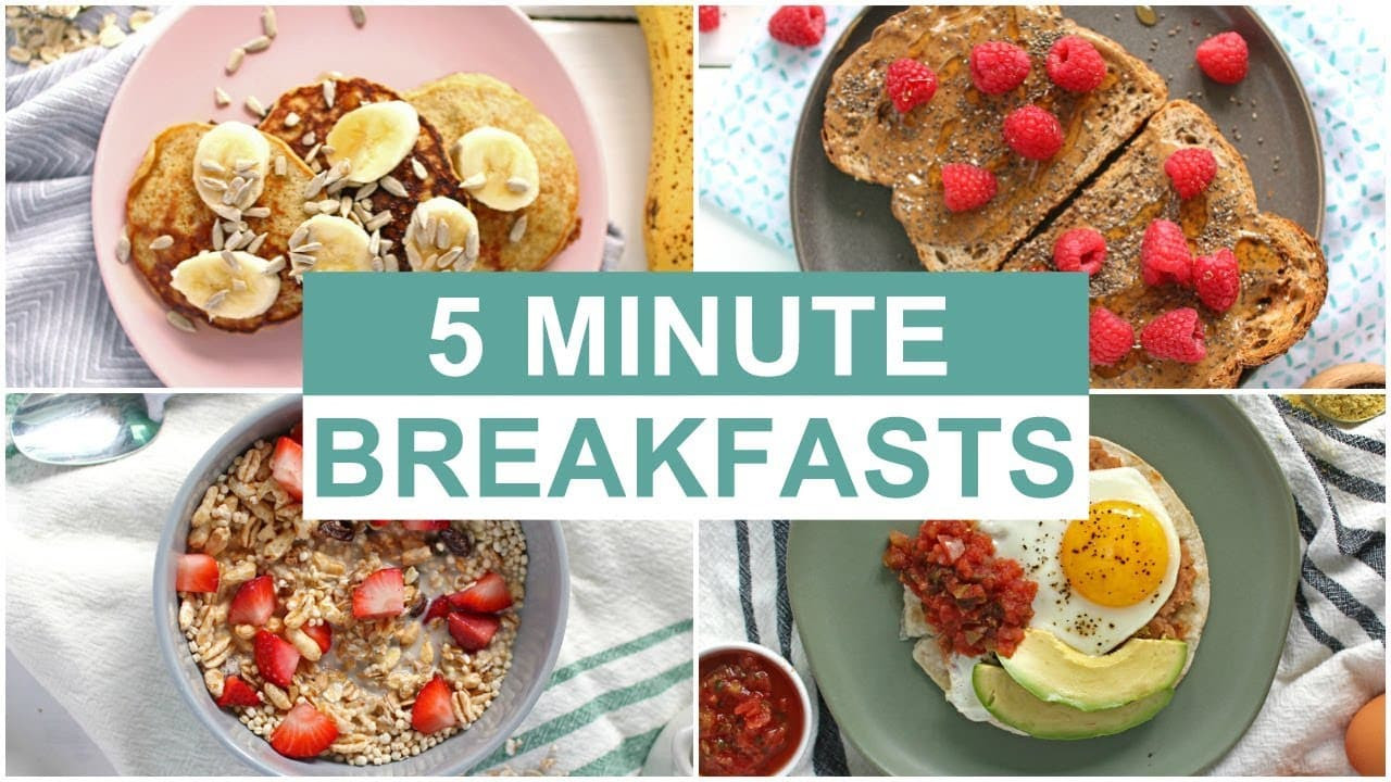 Healthy Fast Food Breakfast Options  EASY 5 Minute Breakfast Recipes