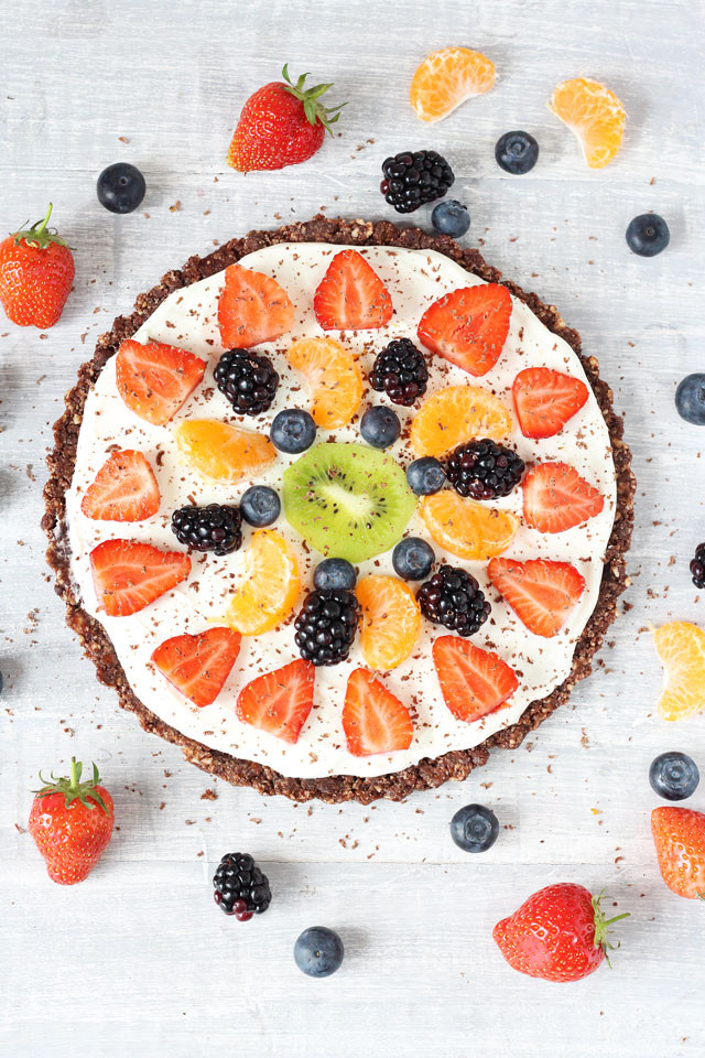 Healthy Fruit Dessert Recipes  Healthy No Bake Chocolate Fruit Pizza Recipe