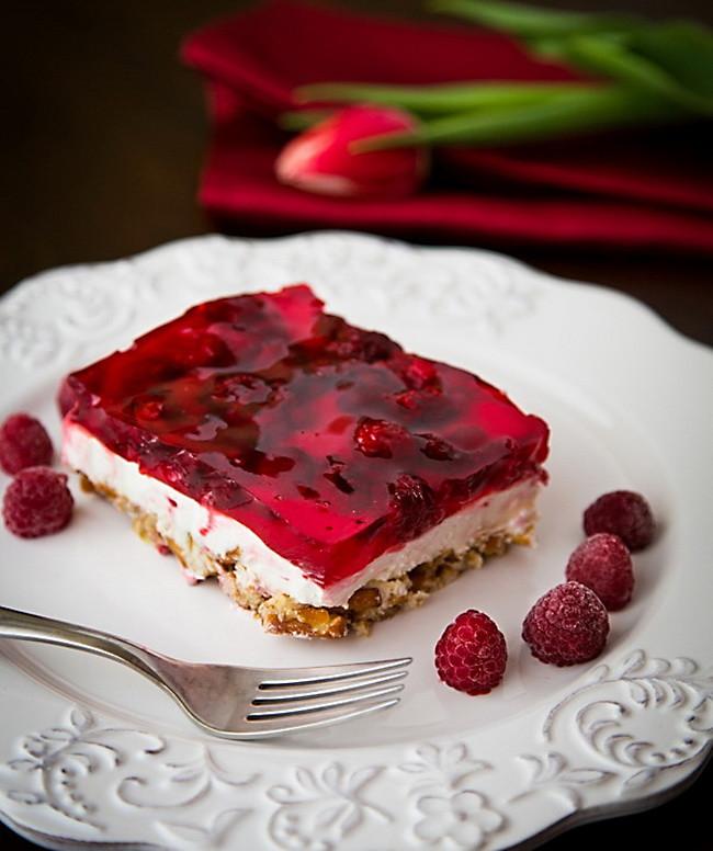 Healthy Fruit Desserts  Raspberry Pretzel Jello – Make Best Healthy Fruit Dessert