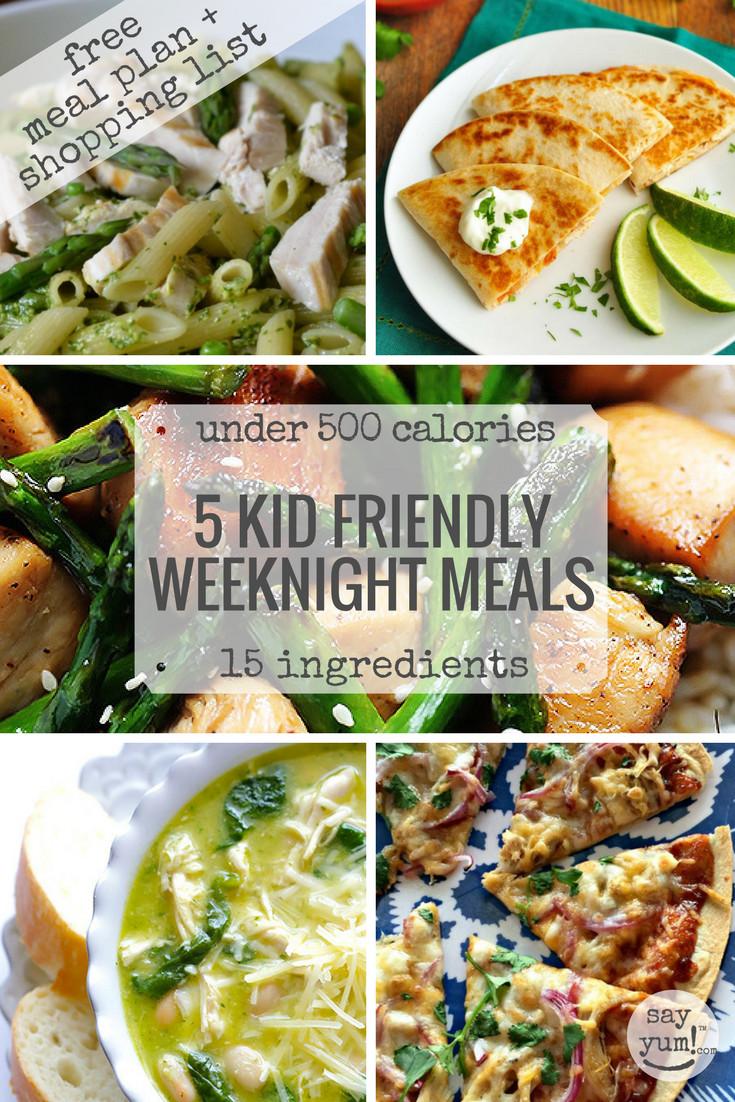 Healthy Kid Friendly Dinners  5 kid friendly easy spring weeknight dinners under 500