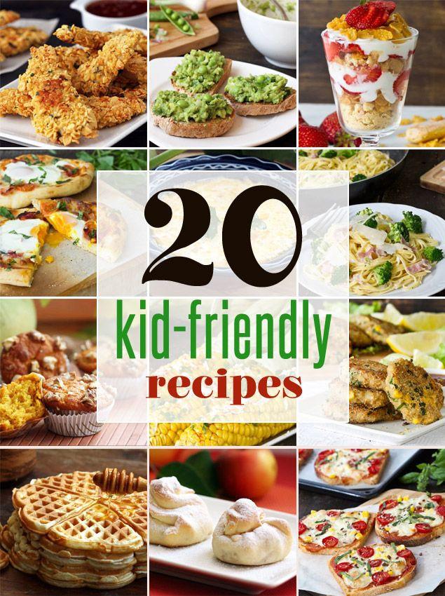 Healthy Kid Friendly Recipes  20 Easy Kid Friendly Recipes healthy recipes that kids