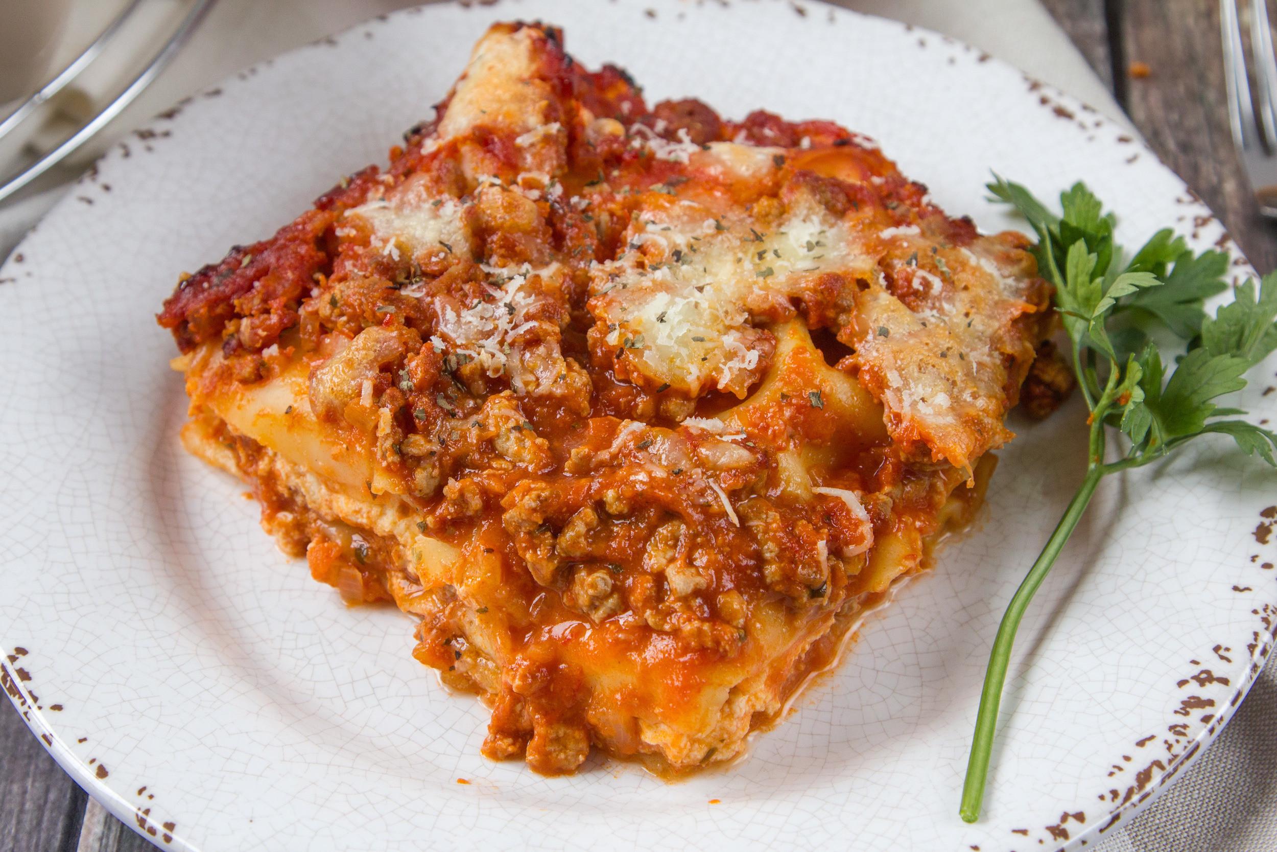 Healthy Lasagna Recipes  Light fort Food Diet Recipes Genius Kitchen