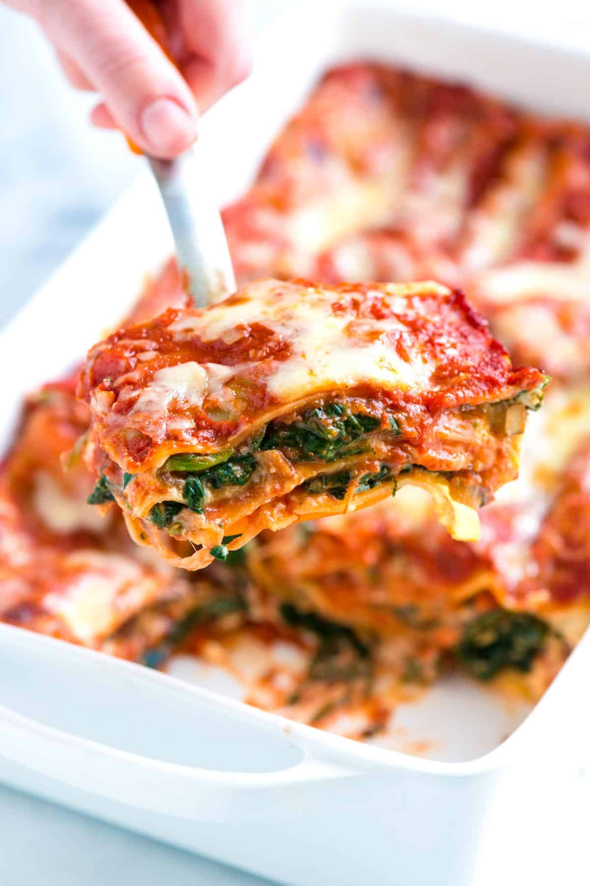 Healthy Lasagna Recipes  Healthier Spinach Lasagna Recipe with Mushrooms