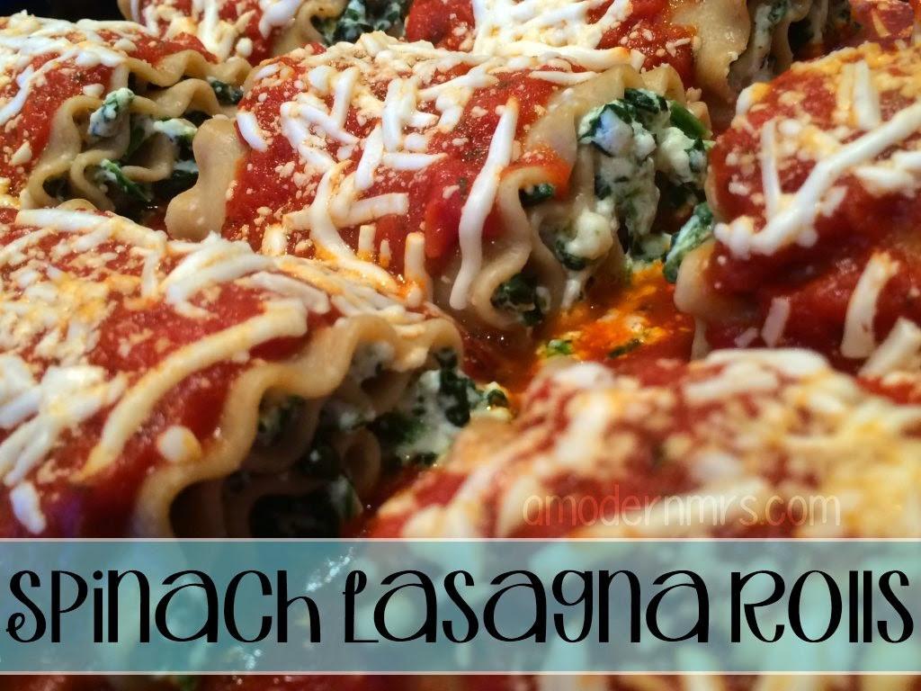 Healthy Lasagna Recipes  Healthy Spinach Lasagna Rolls Recipe — a Modern Mrs
