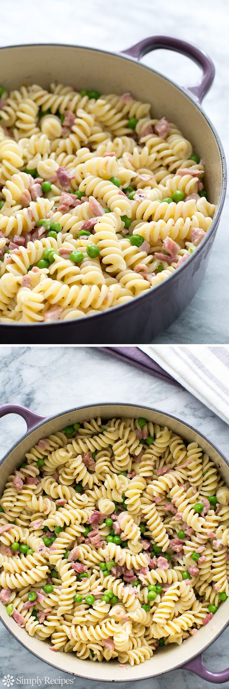 Healthy Leftover Ham Recipes  Pasta with Ham and Peas Great use for leftover ham