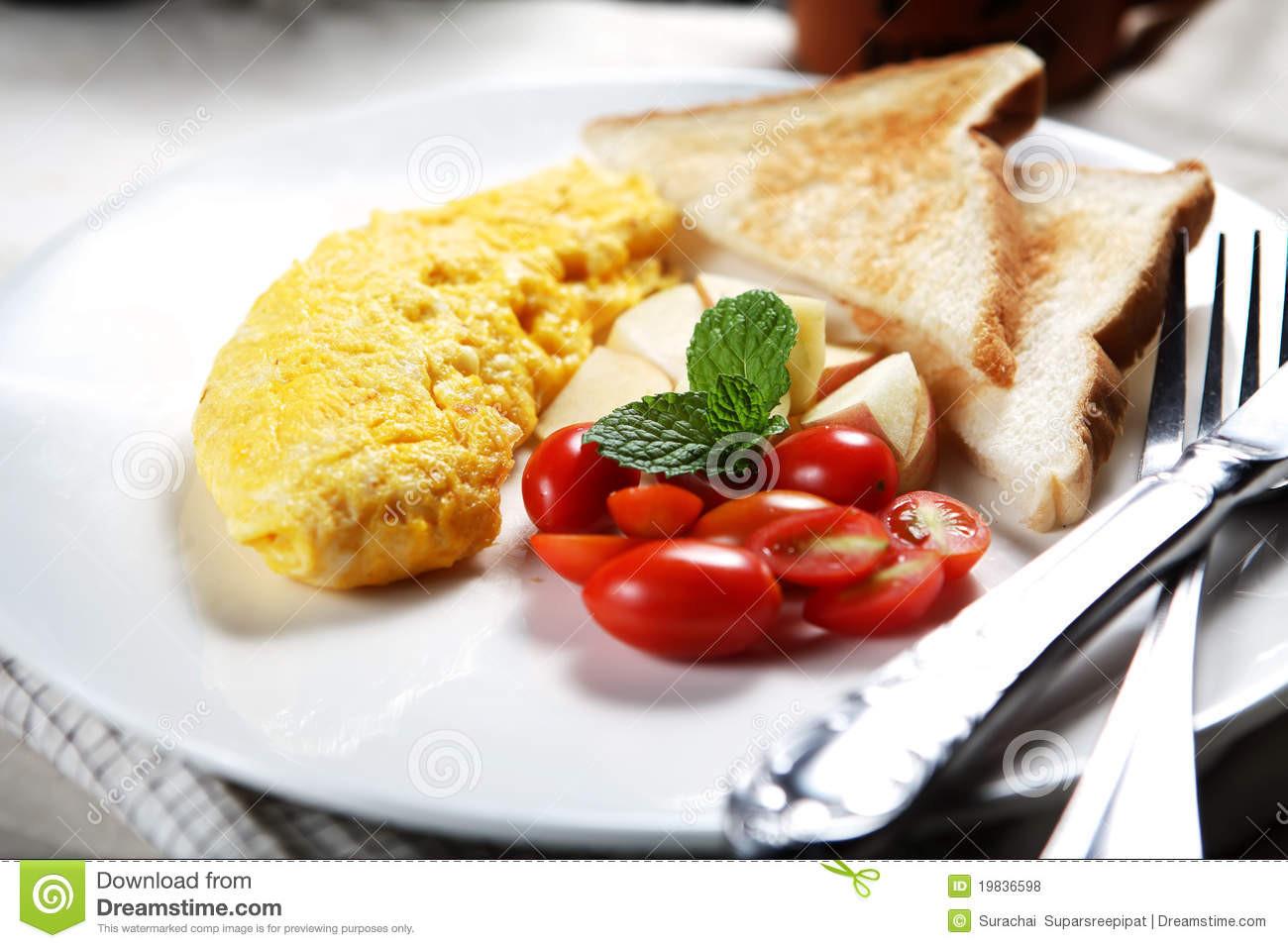 Healthy Low Calorie Breakfast  Healthy Low fat Breakfast 02 Royalty Free Stock s