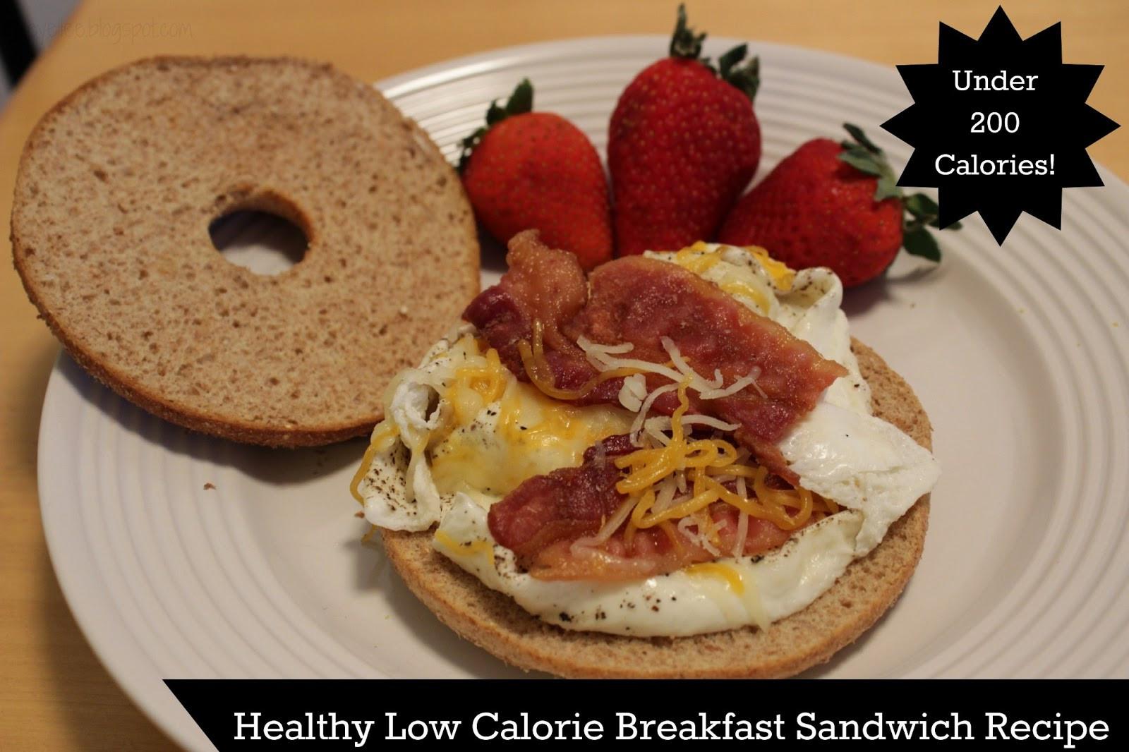 Healthy Low Calorie Breakfast  Low Calorie Low Calorie Breakfast Sandwich