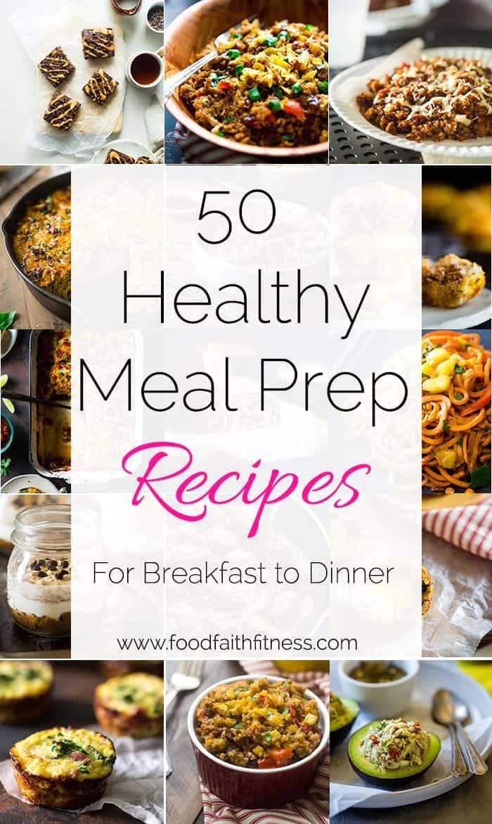 Healthy Meal Prep Breakfast  50 Meal Prep Ideas From Breakfast to Dinner Food Faith