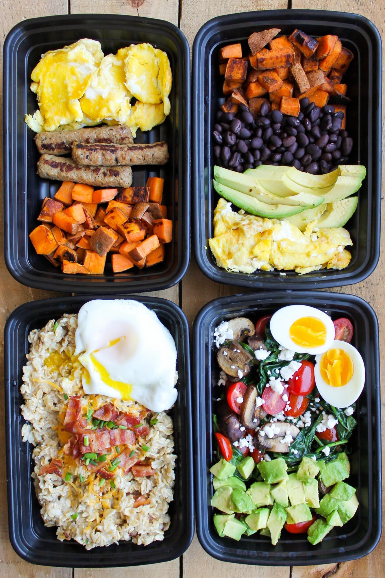 Healthy Meal Prep Breakfast  Make Ahead Breakfast Meal Prep Bowls 4 Ways Smile Sandwich