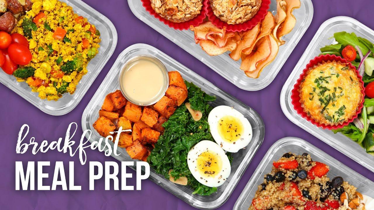 Healthy Meal Prep Breakfast  5 Healthy BREAKFAST Meal Prep Ideas