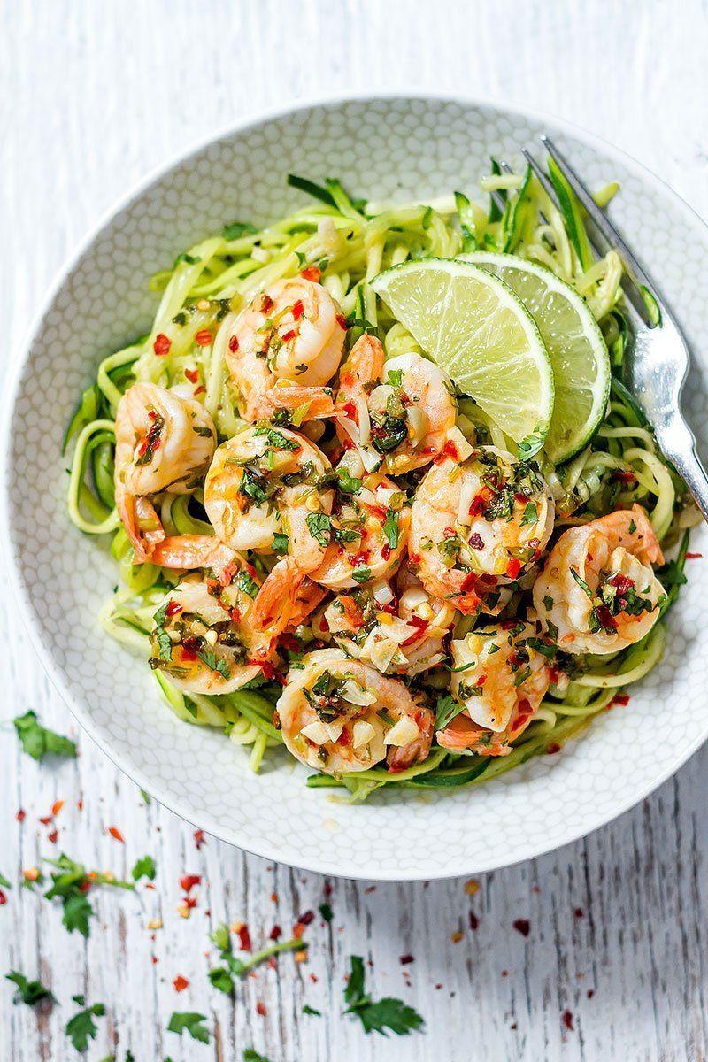 Healthy Meals For Dinner  Cilantro Lime Shrimp with Zucchini Noodles — Eatwell101