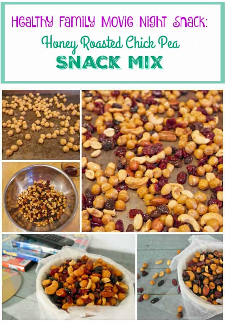 Healthy Movie Snacks  Honey Roasted Chick Peas Healthy Family Movie Night Snack