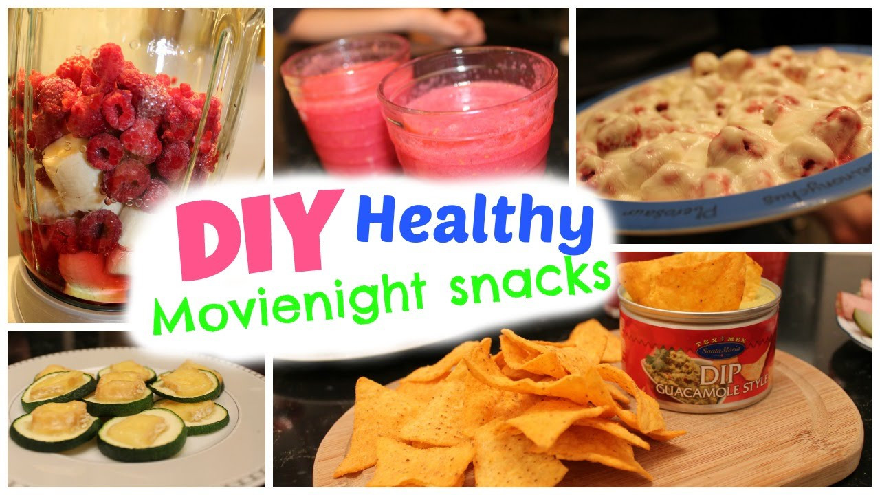 Healthy Movie Snacks  DIY easy & healthy snacks ♡ Movie night treats