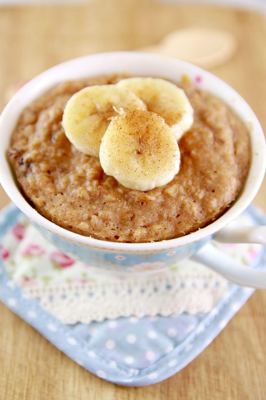 Healthy Mug Cake  Microwave Peanut Butter & Banana Mug Cake Bigger Bolder