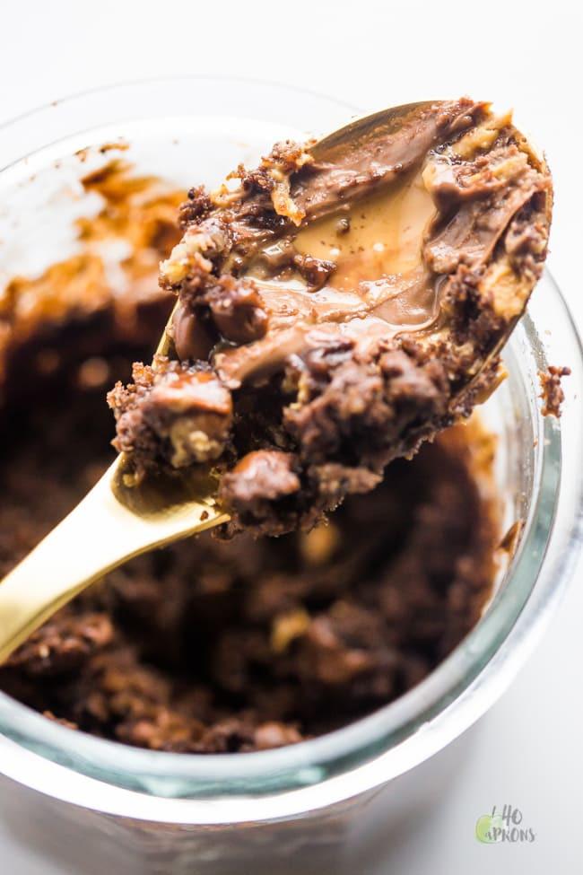 Healthy Mug Cake  Healthy Chocolate Peanut Butter Mug Cake 40 Aprons