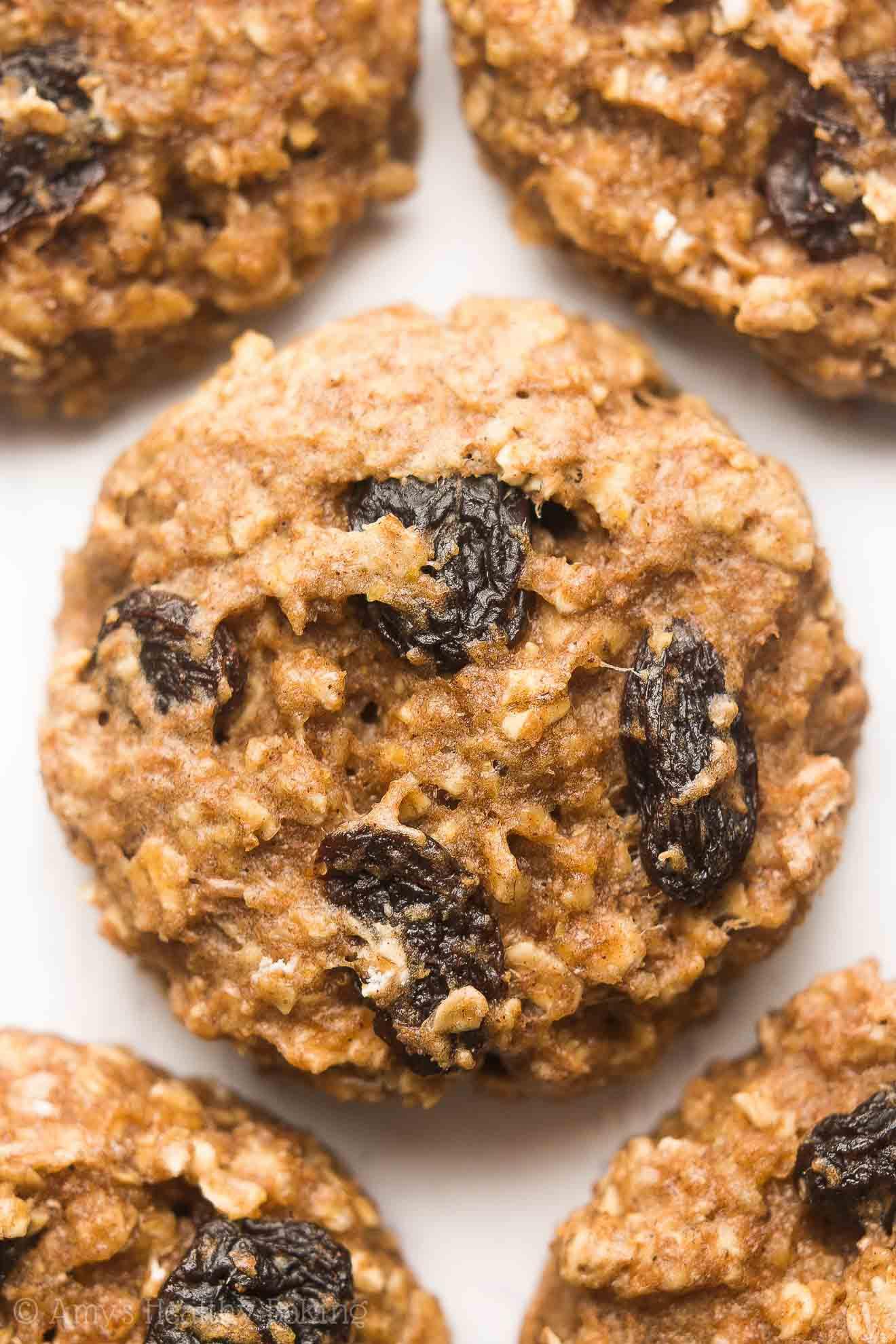 Healthy Oatmeal Raisin Cookies  heart healthy oatmeal raisin cookies