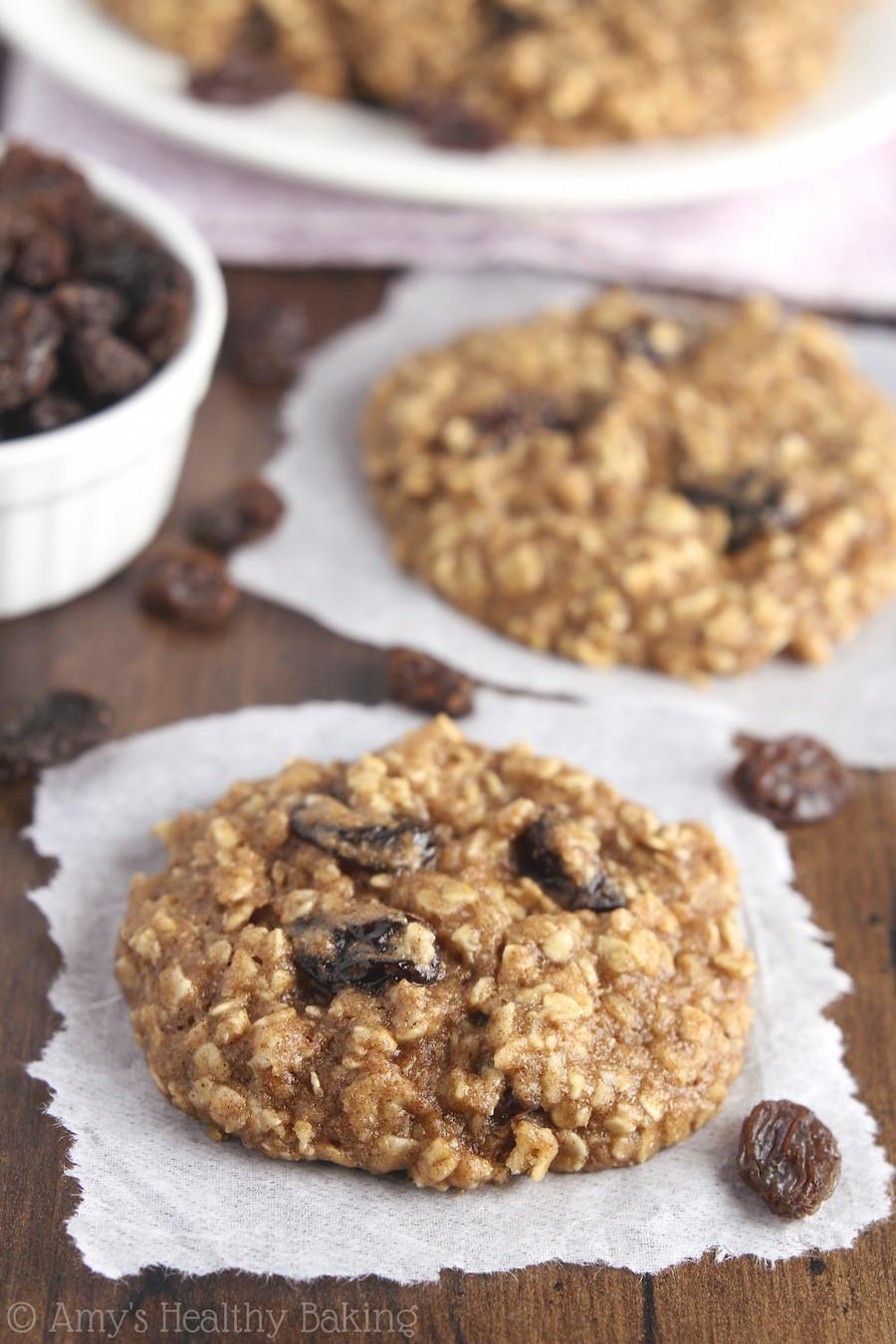 Healthy Oatmeal Raisin Cookies  The Ultimate Healthy Soft & Chewy Oatmeal Raisin Cookies