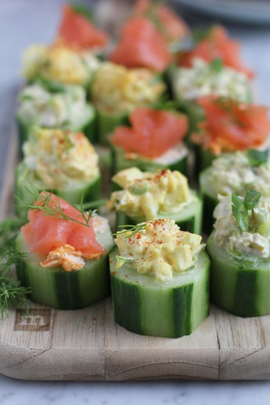 Healthy Party Appetizers  Quick and Easy Cucumber Bites Three Ways