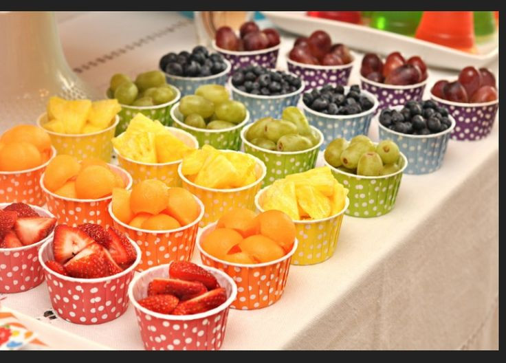 Healthy Party Snacks  Healthy rainbow food Gabi bday party ideas