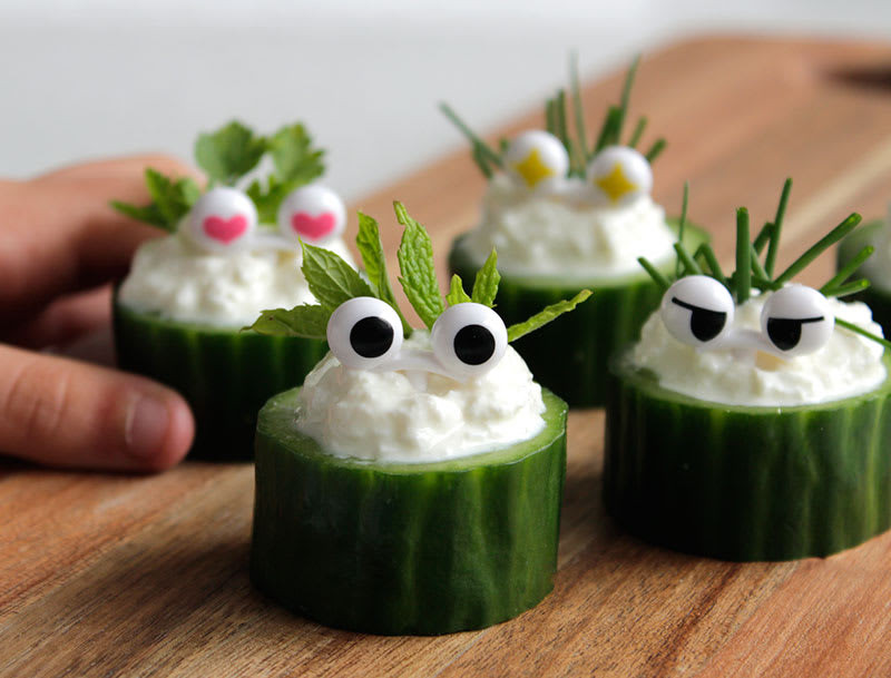 Healthy Party Snacks  Cucumber Bites Healthy Party Snacks