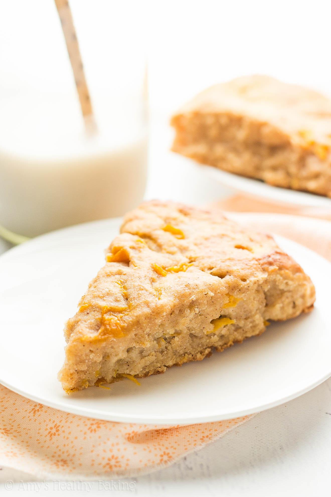 Healthy Peach Recipes  Healthy Honey Peach Scones Recipe Video