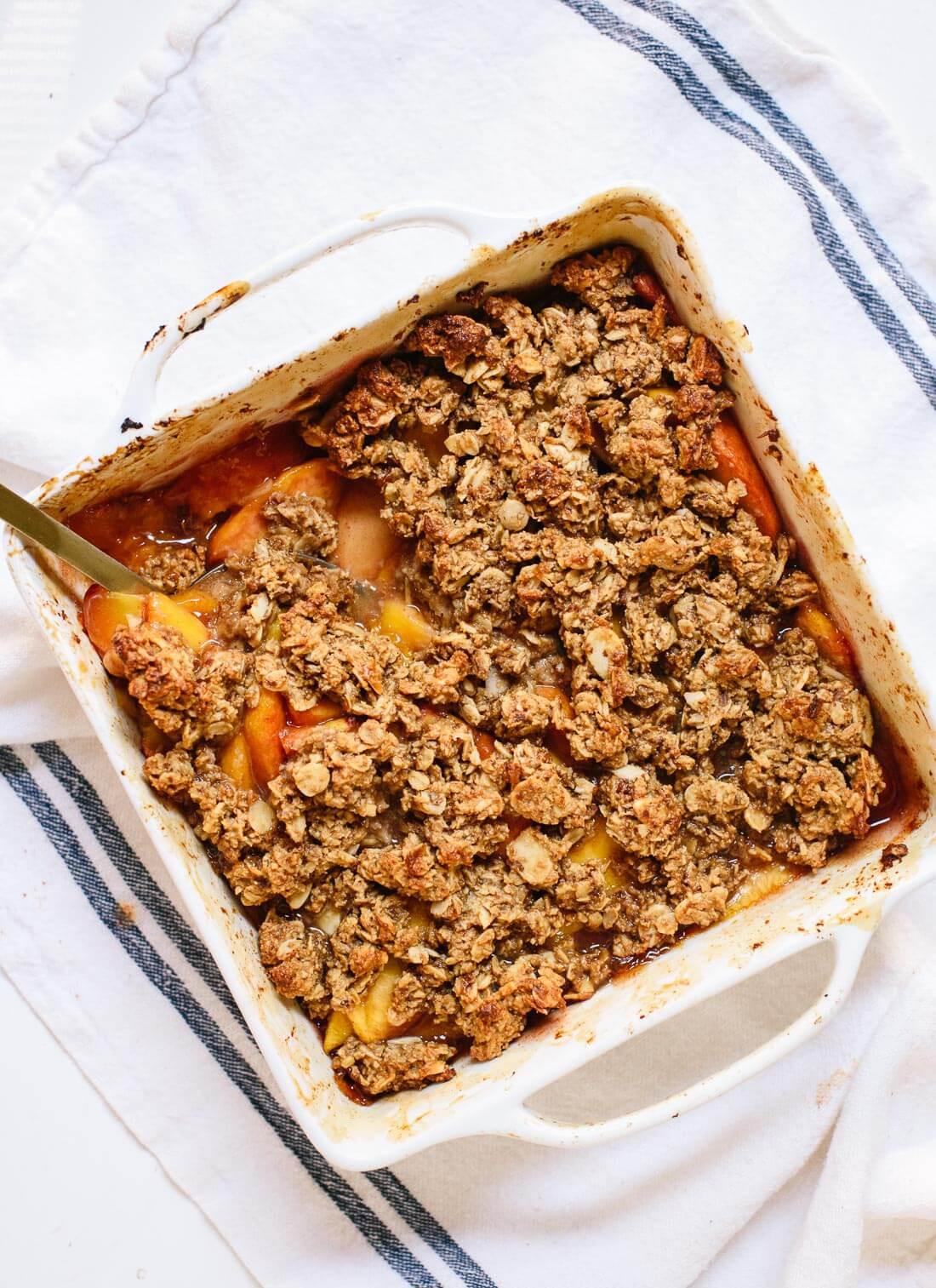 Healthy Peach Recipes  Gluten Free Peach Crisp Recipe Cookie and Kate