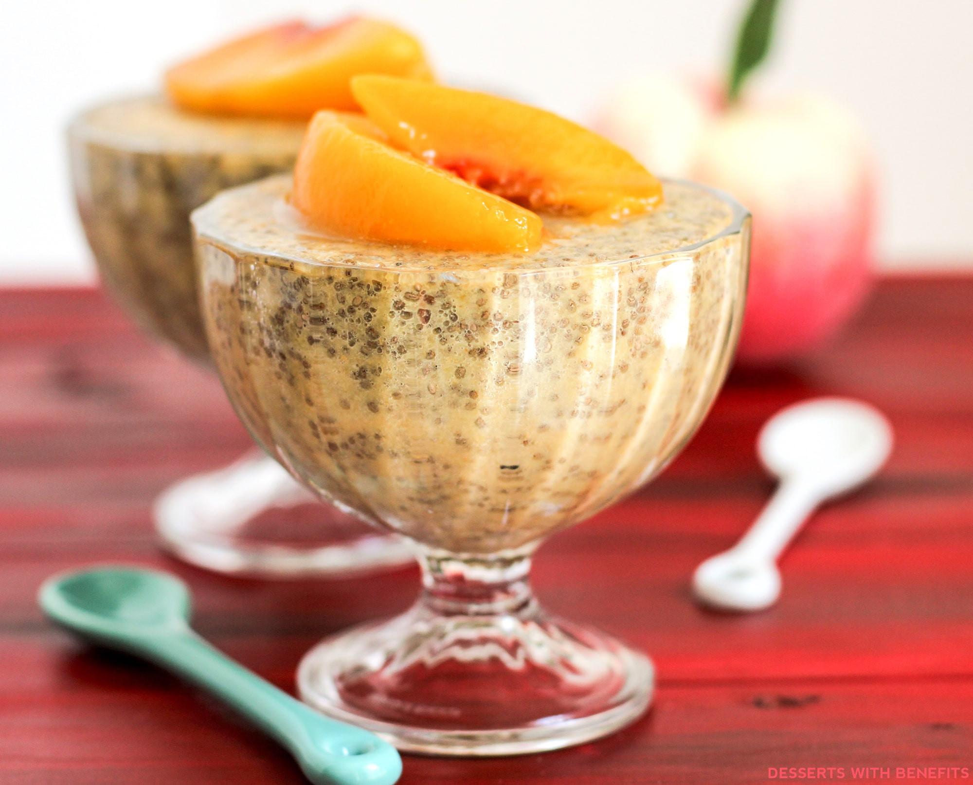 Healthy Peach Recipes  Healthy Ginger Peach Chia Seed Pudding Recipe