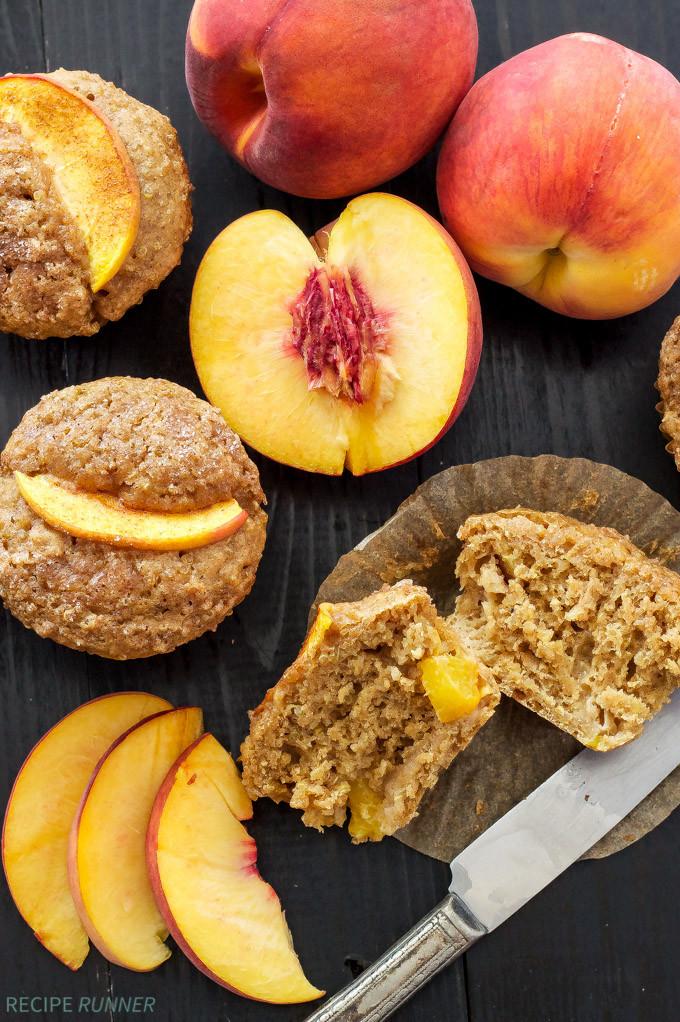 Healthy Peach Recipes  healthy peach muffins