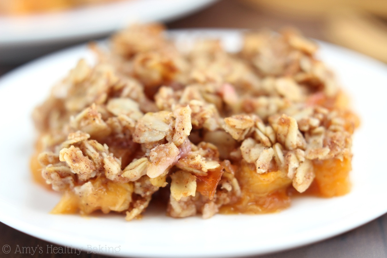 Healthy Peach Recipes  Clean Peach Crumble