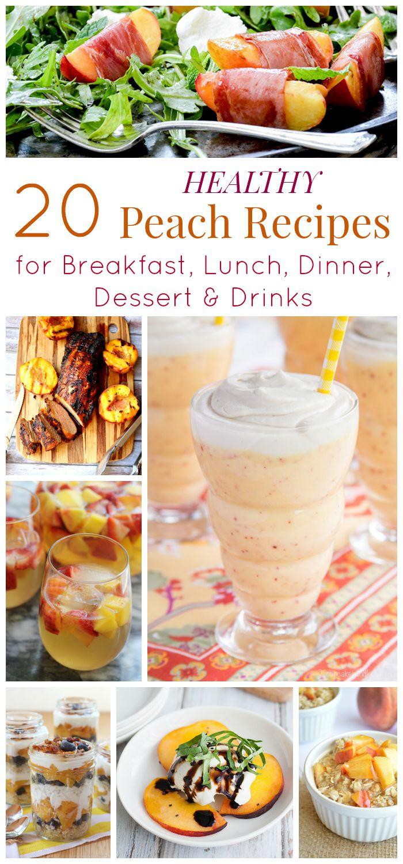 Healthy Peach Recipes  healthy fresh peach dessert recipes