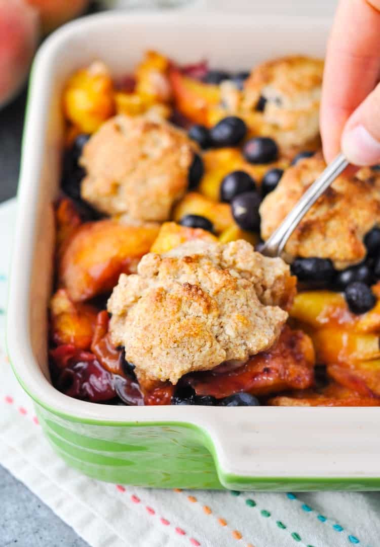 Healthy Peach Recipes  Healthy Blueberry Peach Cobbler Our Week in Meals 32