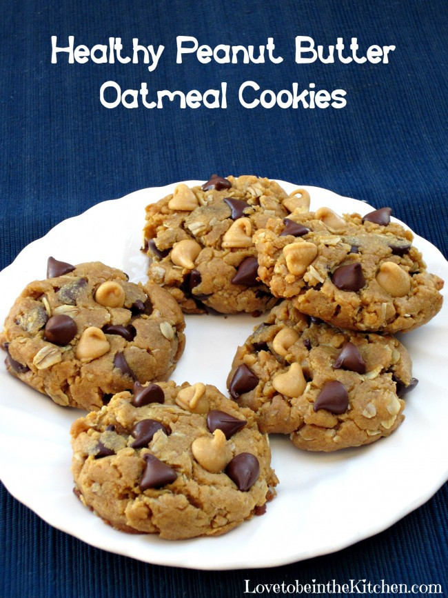 Healthy Peanut Butter Oatmeal Cookies  Healthy Peanut Butter Oatmeal Cookies Love to be in the