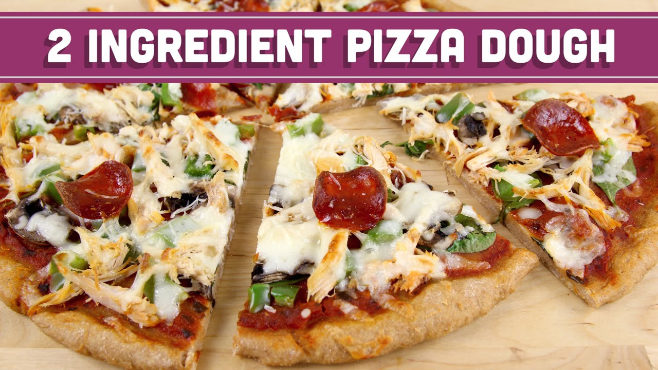 Healthy Pizza Dough  2 Ingre nt Pizza Dough Healthy Pizza and Breadsticks