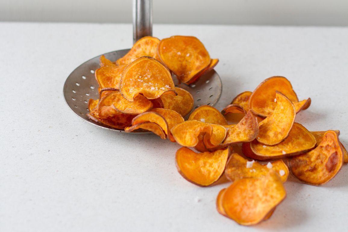 Healthy Potato Chips  Healthy Homemade Sweet Potato Chips Recipe
