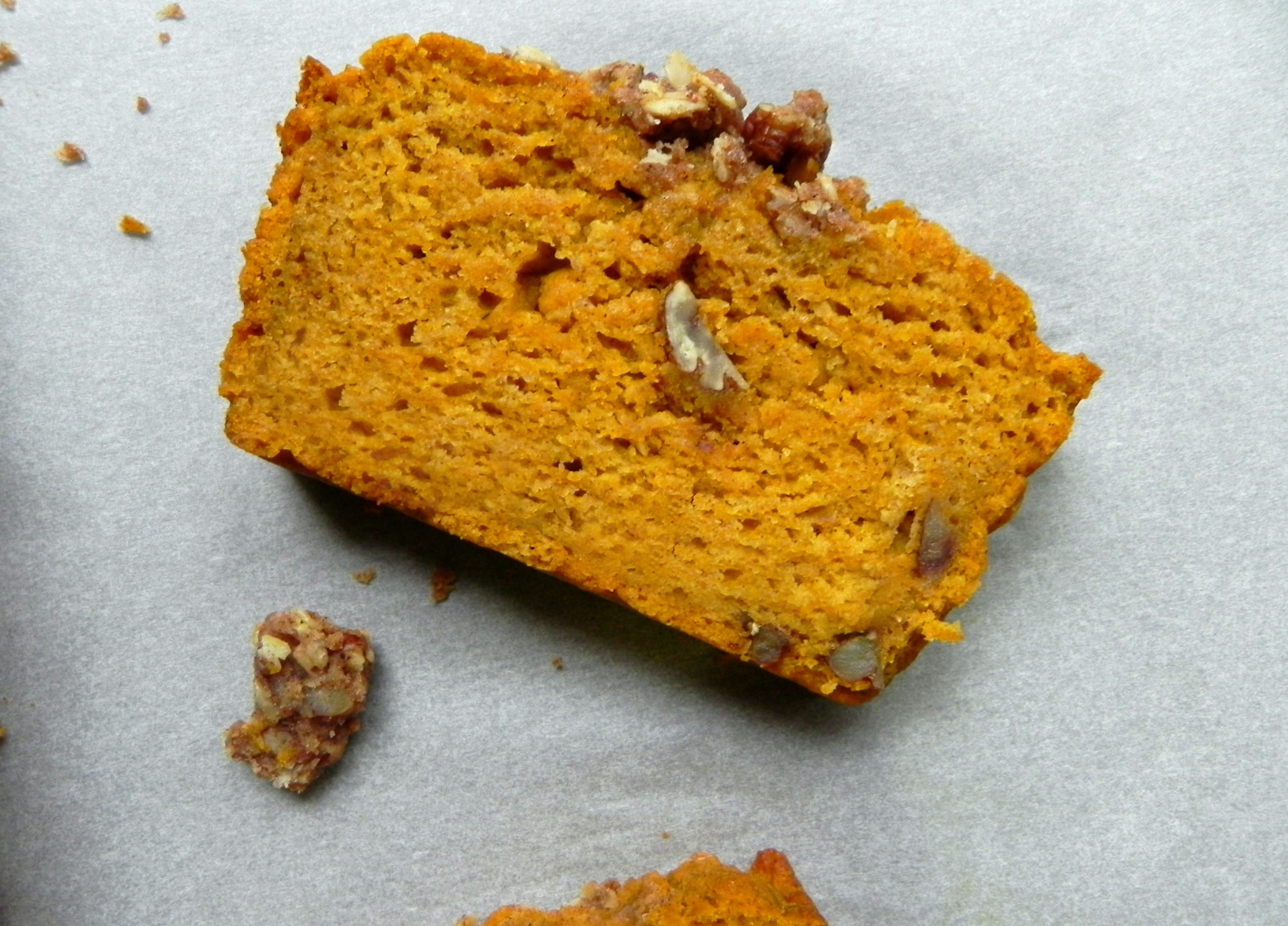 Healthy Pumpkin Bread  Healthy Pumpkin Bread with Maple Pecan Crumble Vegan