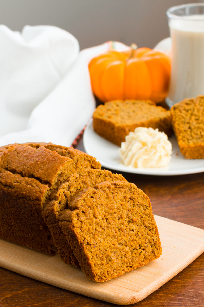 Healthy Pumpkin Bread  Healthy Pumpkin Bread Recipe Deliciously Dairy Free