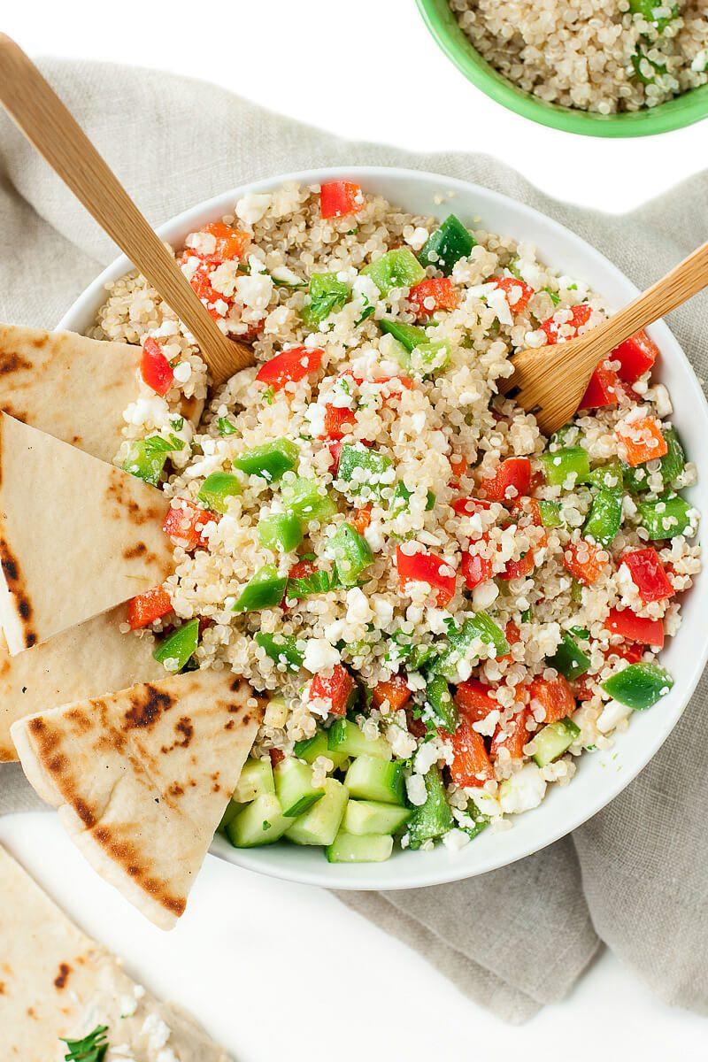 Healthy Quinoa Recipes  Greek Quinoa Bowls Healthy Ve arian Grain Bowls Peas
