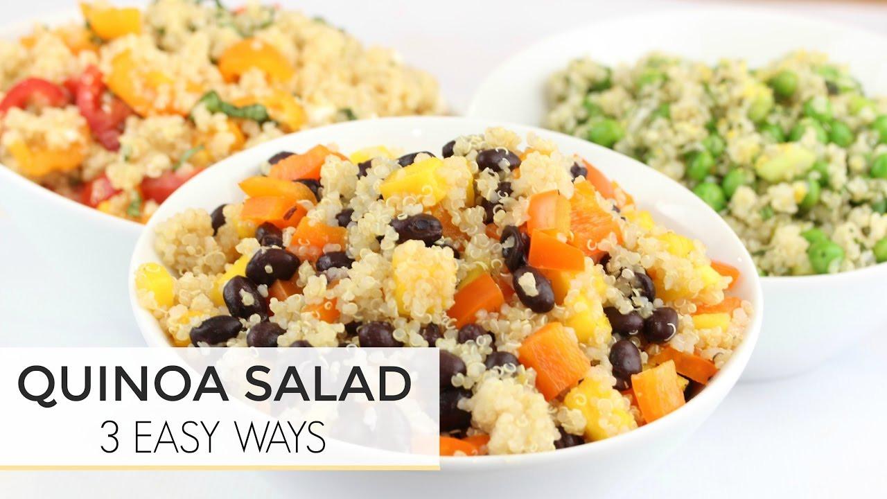 Healthy Quinoa Recipes  3 Easy Healthy Quinoa Salad Recipes