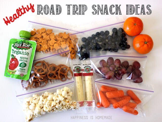 Healthy Road Trip Snacks  15 Road Trip Essentials Printable Happiness is Homemade
