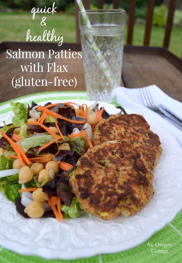 Healthy Salmon Patties  Salmon Patties with Flax Gluten Free