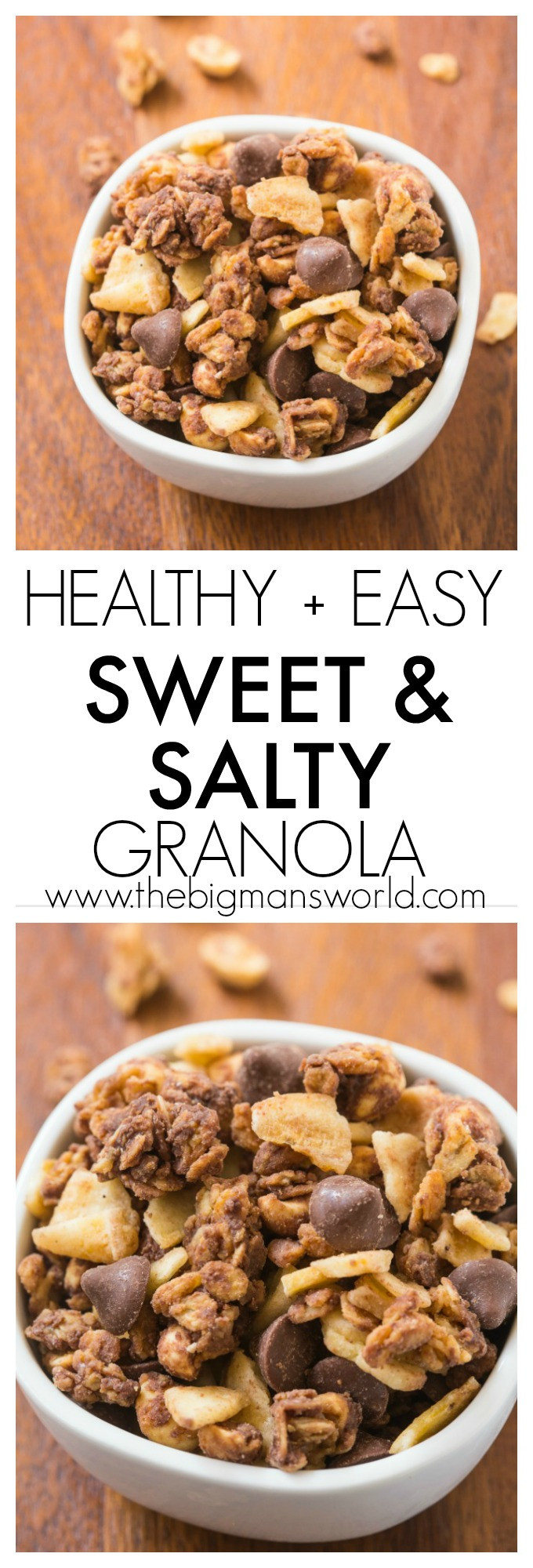 Healthy Salty Snacks  Easy Sweet and Salty Granola Recipe