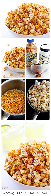 Healthy Salty Snacks  Taco Popcorn Recipe
