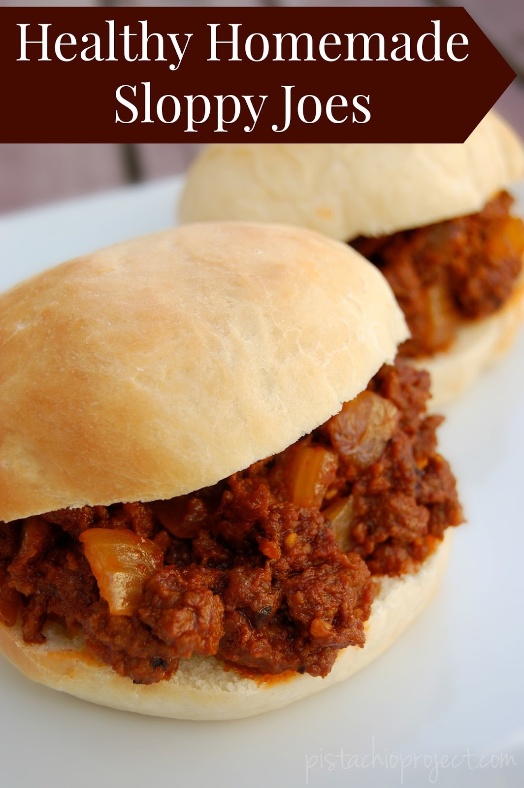 Healthy Sloppy Joes  Healthy Homemade Sloppy Joes The Pistachio Project