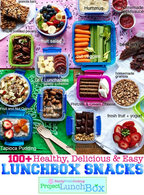 Healthy Snacks For College  100 Healthy Delicious and Easy Lunchbox Snacks Marla