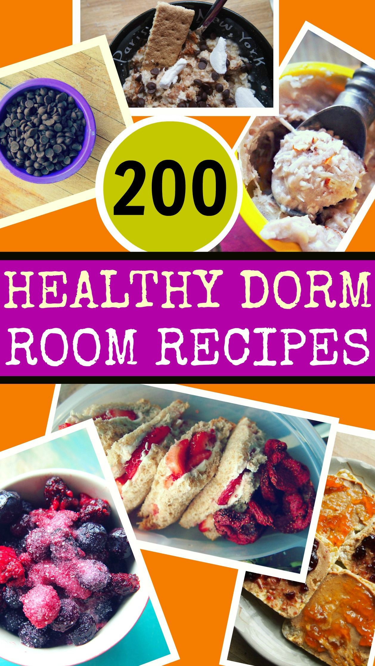 Healthy Snacks For College Students  200 Healthy Dorm Room Recipes by Taralynn McNitt I don t