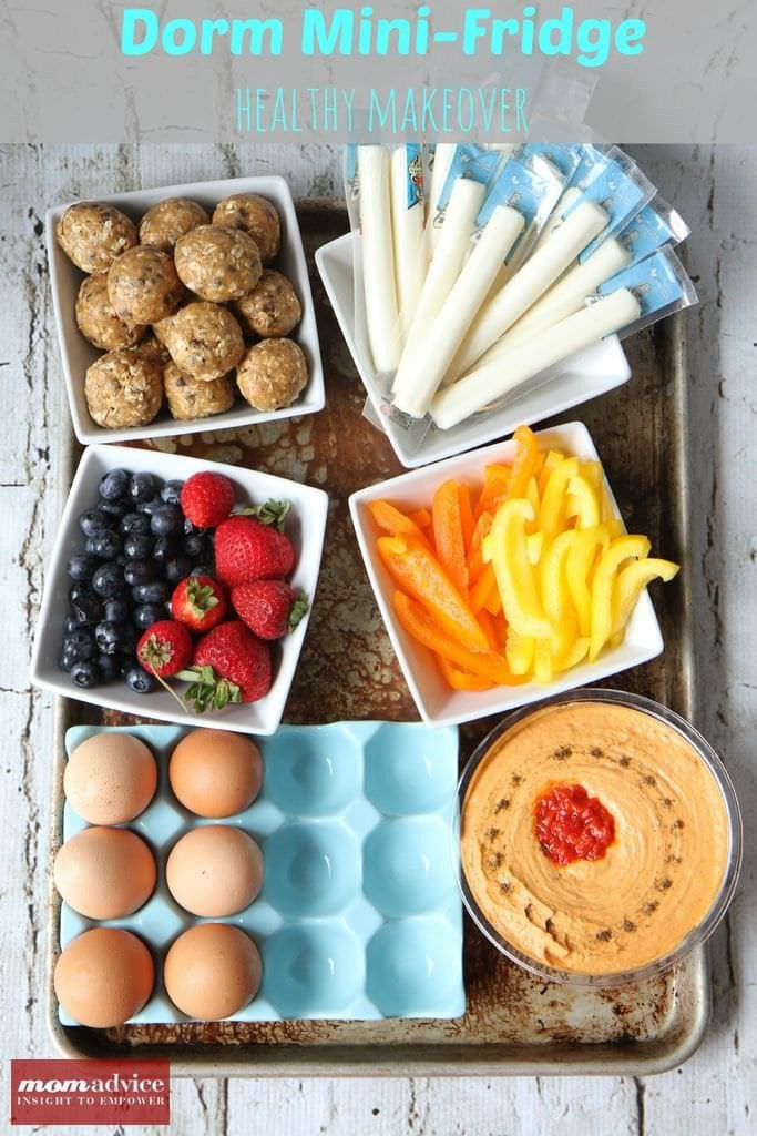 Healthy Snacks For College  Dorm Mini Fridge Healthy Makeover MomAdvice