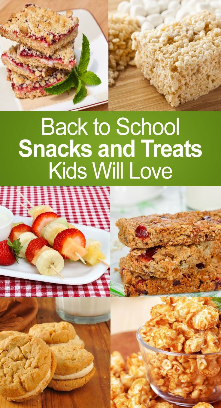 Healthy Snacks For Kids To Take To School  Back to School Snacks and Treats Kids Will Love