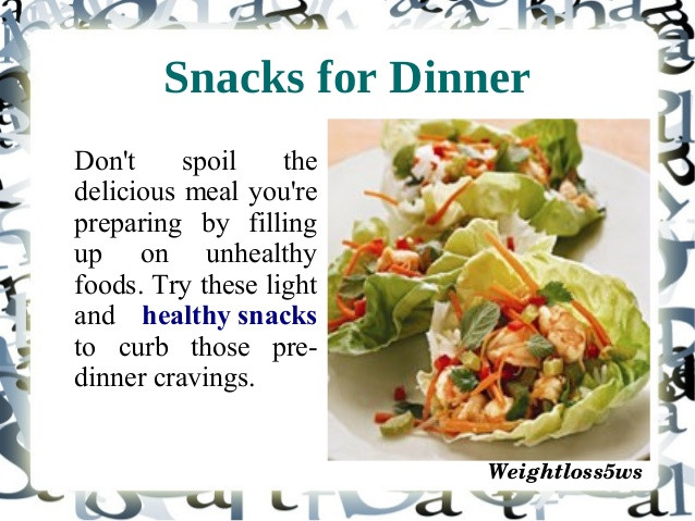 Healthy Snacks For Losing Weight  Healthy snacks for weight loss