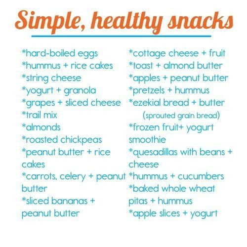 Healthy Snacks List  Healthy Snacks for Kids for Work for School for Weight