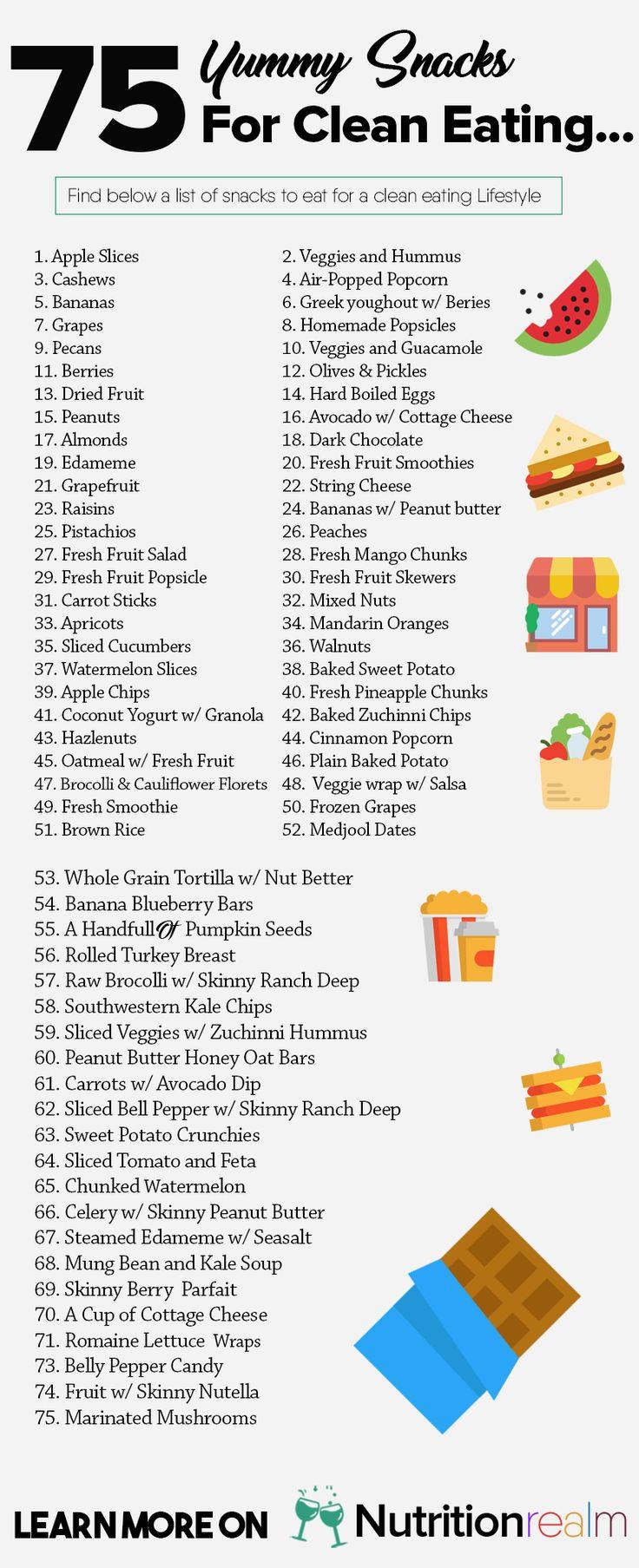 Healthy Snacks List  17 Best ideas about Healthy Snacks on Pinterest